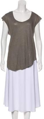 Isabel Marant Linen Scoop Neck T-Shirt