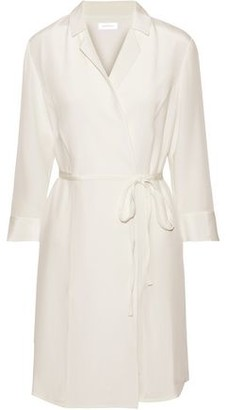 Anine Bing Nina Silk Crepe De Chine Wrap Dress