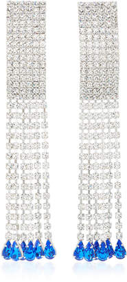 Alessandra Rich Silver-Tone Crystal Earrings