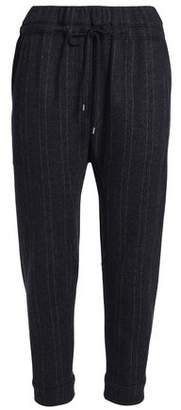 Brunello Cucinelli Cropped Pinstriped Cashmere Tapered Pants