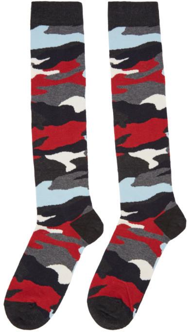 Moncler Gamme Bleu Multicolor Camo Socks 2