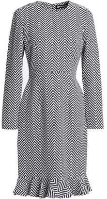 House of Holland Fluted Cotton-blend Jacquard Dress