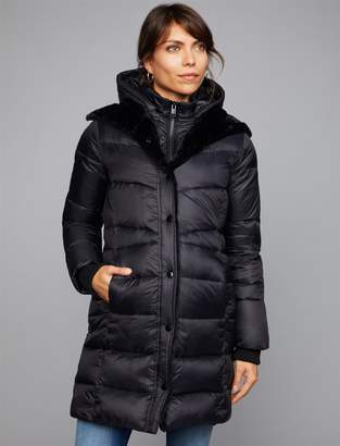 A Pea in the Pod Quilted Puffer Maternity Jacket