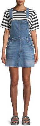 7 For All Mankind Mini Skirt Denim Overall Dress
