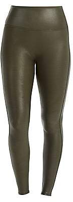 Spanx Women's Faux Leather Shaping Leggings