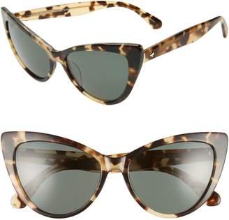 Kate Spade Karina 56mm Cat Eye Sunglasses