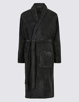M&S Collection Supersoft Fleece Dressing Gown with Belt