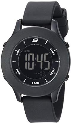 Skechers Women's Rosencrans Mini Digital Plastic and Silicone Casual Watch
