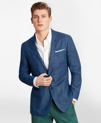 Brooks Brothers Milano Fit Linen Patch Pocket Sport Coat