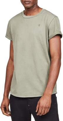 G Star Raw Roll Sleeve Crew Neck Tee