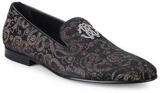 Roberto Cavalli Men's Jacquard Leather Loafers