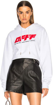 Off-White Off White Cropped Hoodie
