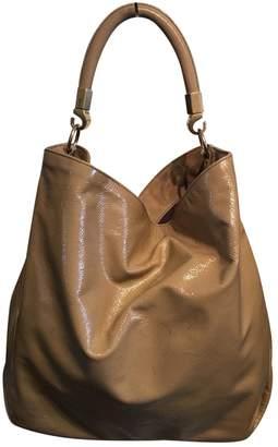 Saint Laurent Beige Patent leather Handbag