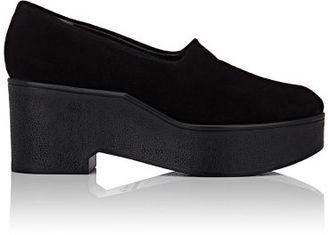 Robert Clergerie Women's Xalo Platform Wedge Loafers-BLACK $475 thestylecure.com