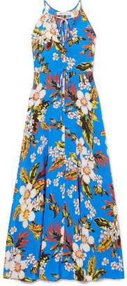 Diane von Furstenberg Floral-print Silk-jersey Maxi Dress - Blue