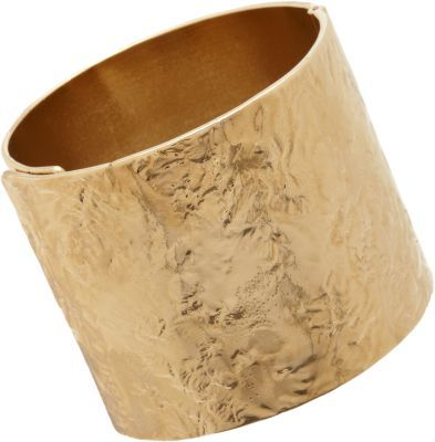 Givenchy Pale Gold Wrinkled-Texture Cuff