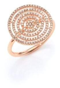 Astley Clarke Icon Aura Grey Diamond& 14K Rose Gold Ring