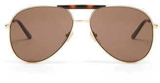 Gucci - Aviator Metal Sunglasses - Mens - Gold