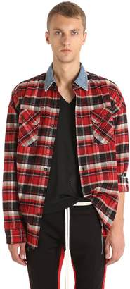 Fear Of God Check Flannel Shirt W/Denim Collar