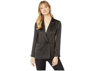 Vince Camuto Soft Satin Double-Breasted Blazer