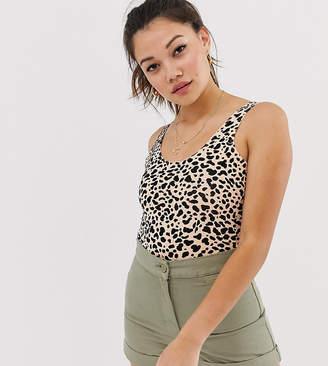 25f63172ac37 Miss Selfridge strappy body in leopard print