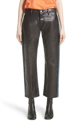 Women's Junya Watanabe Faux Leather Front Jeans $955 thestylecure.com