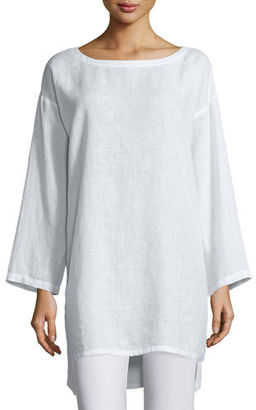 Eileen Fisher Organic Linen Long Tunic $228 thestylecure.com