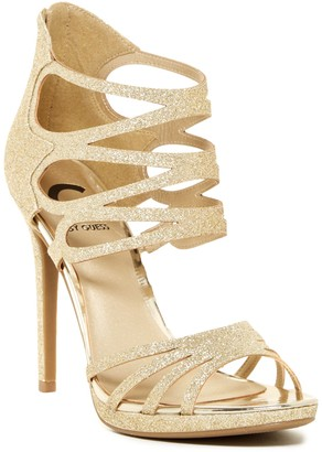 G by GUESS Girrlie Glitter Sandal $69 thestylecure.com