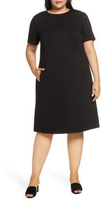 Lafayette 148 New York Jacintha Tonal Stitch Shift Dress