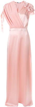 Lanvin flower-embellished gown