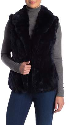 Surell Genuine Rex Rabbit Fur Vest