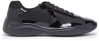 Prada America's Cup patent-leather and mesh trainers