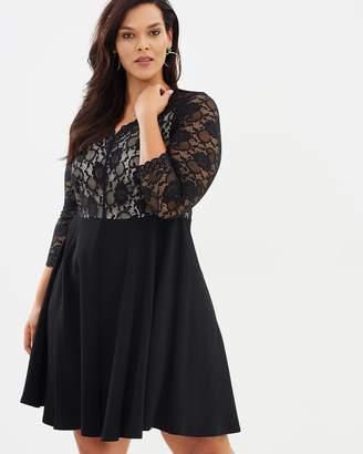 Evans Scallop Lace Dress