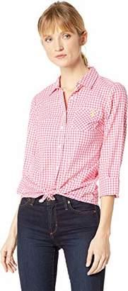 U.S. Polo Assn. Women's Long Sleeve Plaid Poplin Blouse