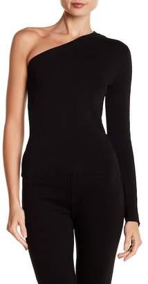 Rachel Roy One Shoulder 3/4 Sleeve Blouse