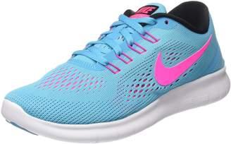 Nike Women's Free Rn Gamma Blue / Black-Pink Blast-Photo Ankle-High Running Shoe - 8M