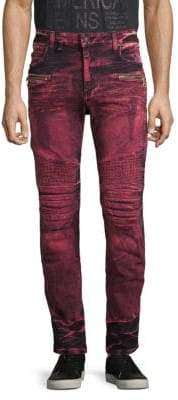 Dyed Skinny-Fit Jeans