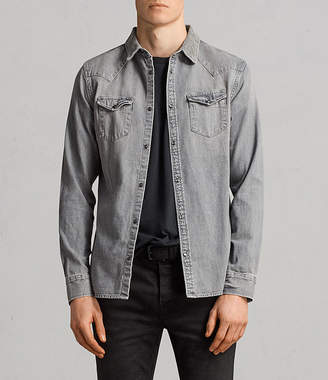 AllSaints Gamble Denim Shirt