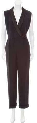 Christian Dior Silk Straight-Leg Jumpsuit
