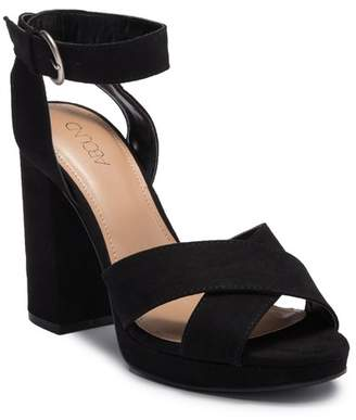 Abound Bianka Fab Faux Suede Block Heel Sandal