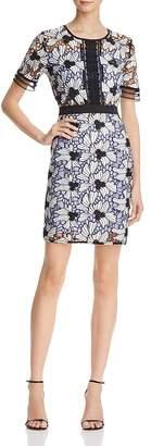 AQUA Contrast Lace Dress - 100% Exclusive $98 thestylecure.com