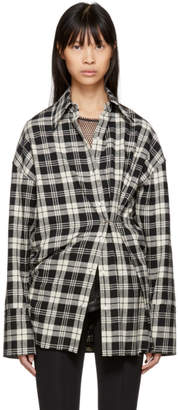 Helmut Lang Black and White Safety Pin Shirt
