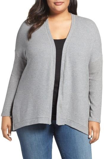 Three DotsPlus Size Women's Three Dots Brushed Cardigan