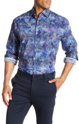 Stone Rose Geometric Print Slim Fit Shirt
