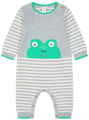 Monsoon Newborn Freddie Frog Knit Sleepsuit
