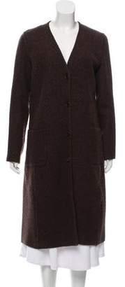 TSE Knit Button-Up Coat