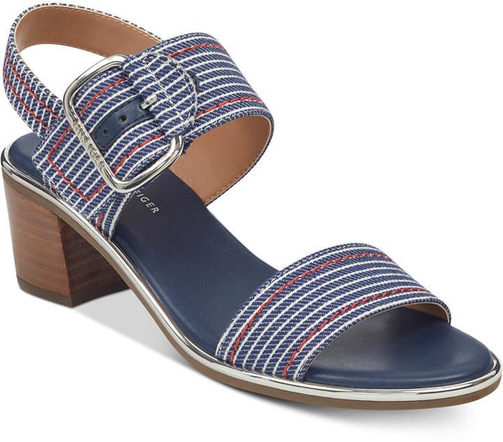 Tommy Hilfiger Katz Block-Heel Dress Sandals Women's Shoes