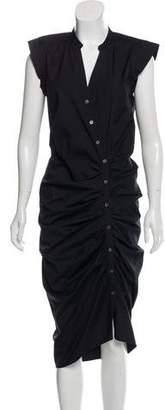 Veronica Beard Button-Up Midi Dress