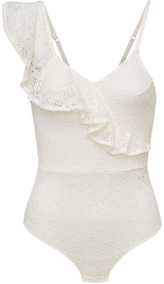 Sam Edelman Lace Asymmetrical Bodysuit