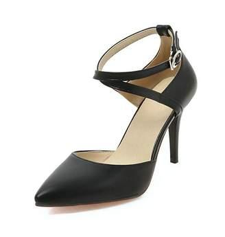 Bang-pa pumps-shoes Bang-pa Fashion Women Pumps Pointed Toe Thin High Heels Ankle Strap White Pumps Shoes 4